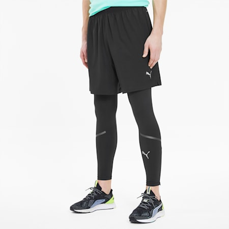 Shorts Runner ID para hombre, Puma Black, pequeño