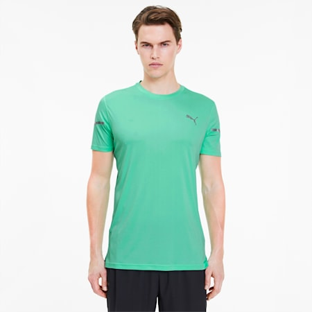 Camiseta Runner ID Thermo R+ para hombre, Green Glimmer, pequeño