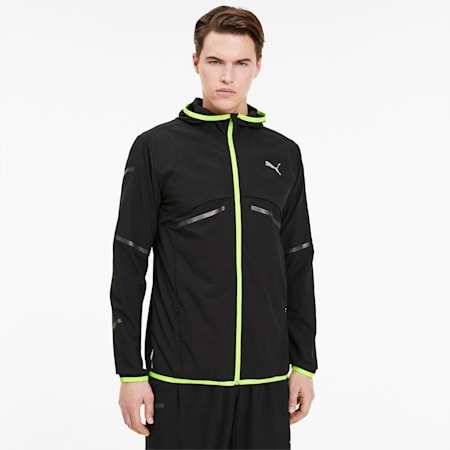 Runner ID Men's Jacket, Puma Black, small-SEA