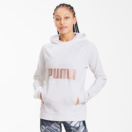 PUMA trainingshoodie voor dames, Puma White, small