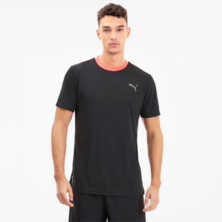 Last Lap Colour-blocked Men's Training Tee, Puma Black-Ignite Pink, small-SEA