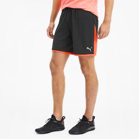 Last Lap Men's Colorblock Shorts, Puma Black-Ignite Pink, small