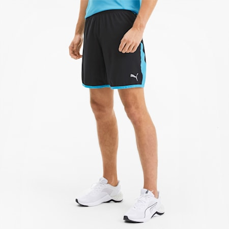 Last Lap Colour-blocked Men's Training Shorts, Puma Black-Ethereal Blue, small-SEA