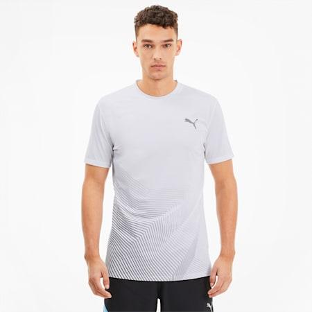 Camiseta para correr estampada Last Lap para hombre, Puma White, pequeño