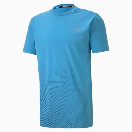 Last Lap Graphic Men's Running Tee, Ethereal Blue, small-SEA