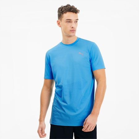 Last Lap Men's Graphic Running Tee, Ethereal Blue, small