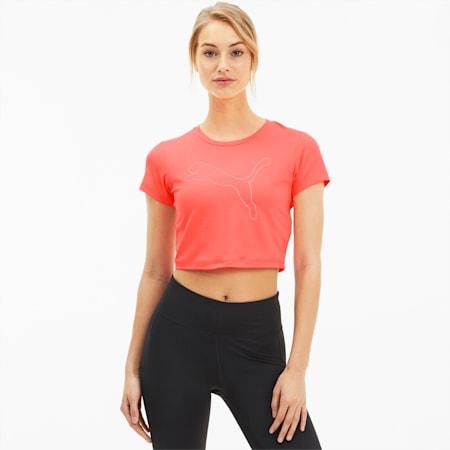 Feel It Women's Crop Tee, Ignite Pink-Outline Cat prt, small-IND