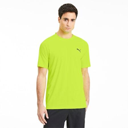 Camiseta de hombre para entrenamiento Power Thermo R+, Yellow Alert, pequeño