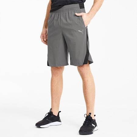 Power BND Knitted Men's Training Shorts, CASTLEROCK-Puma Black, small