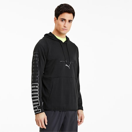 Power Knit Men's Training Hoodie, Puma Black, small-IND
