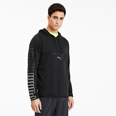 Power Knit Men's Hoodie, Puma Black, small