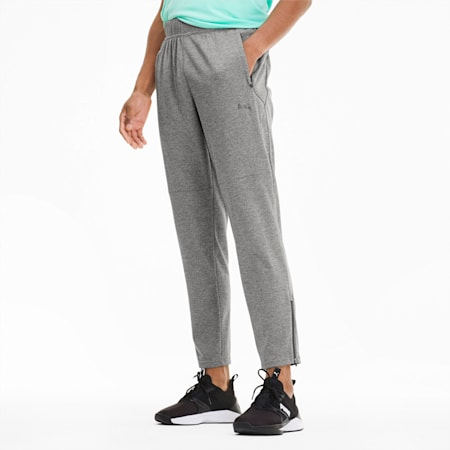 Power Knit Men's Trackster Pants, Medium Gray Heather, small