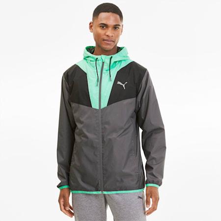 Reactive Woven Men's Training Jacket, CASTLRCK-Green Glimmer-Black, small