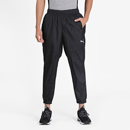 Reactive windCELL Men's Woven Training Pants, Puma Black, small-IND