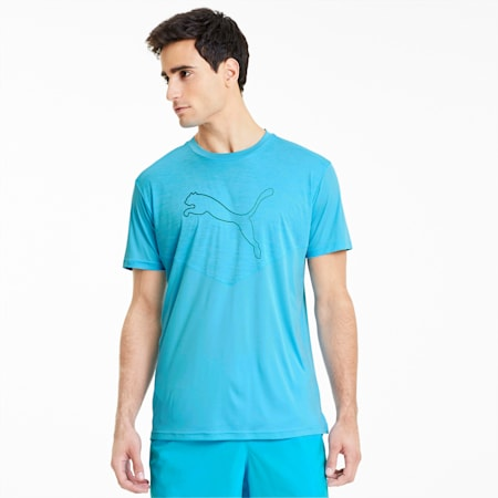 Reactive Tech Men's Training Tee, Ethereal Blue, small