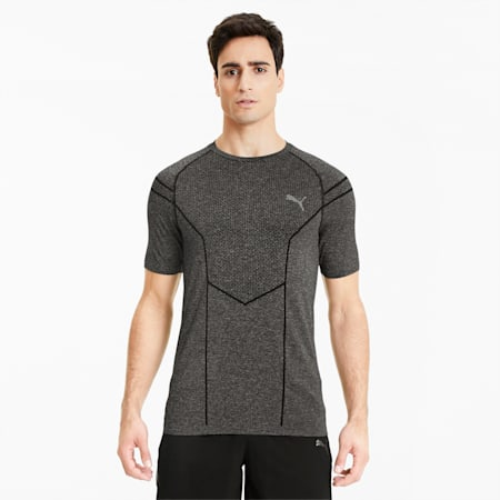 Reactive evoKNIT Men's Training Tee, Puma Black Heather, small