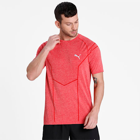Reactive evoKNIT Men's dryCELL Training T-Shirt, High Risk Red Heather, small-IND