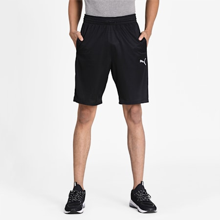 Reactive Knit Training Men's Shorts, Puma Black, small-IND