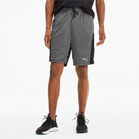 Reactive Reversible Knitted Men's Training Shorts, Puma Black-CASTLEROCK, small-IND