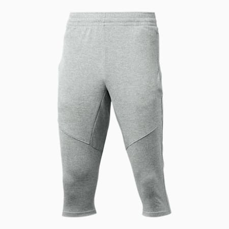 Reactive Men's 3/4 Knitted Pants, Medium Gray Heather, small