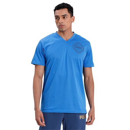 Collective dryCELL Men's Training T-Shirt, Palace Blue, small-IND