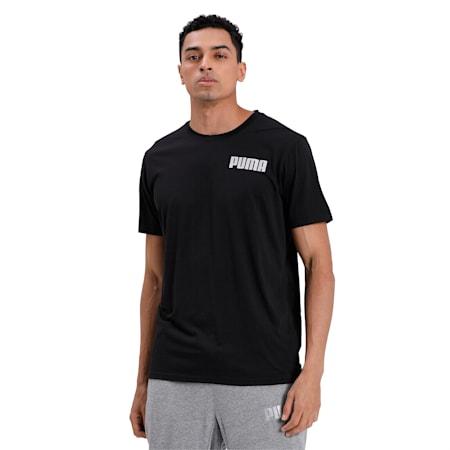Collective Tri-blend Men's Training T-Shirt, Puma Black-white print, small-IND