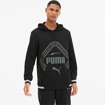 Collective dryCELL Men's Warm-Up Hoodie, Puma Black-tonal print, small-IND