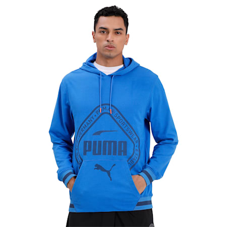 Collective dryCELL Men's Warm-Up Hoodie, Palace Blue, small-IND
