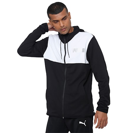 Collective dryCELL Men's Warm Up Jacket, Puma Black-Puma White, small-IND