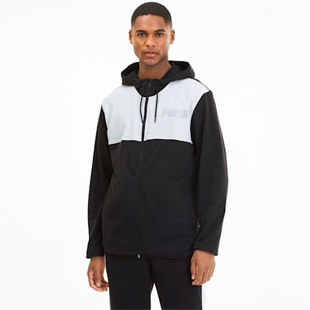Collective Men's Warm Up Jacket, Puma Black-Puma White, small