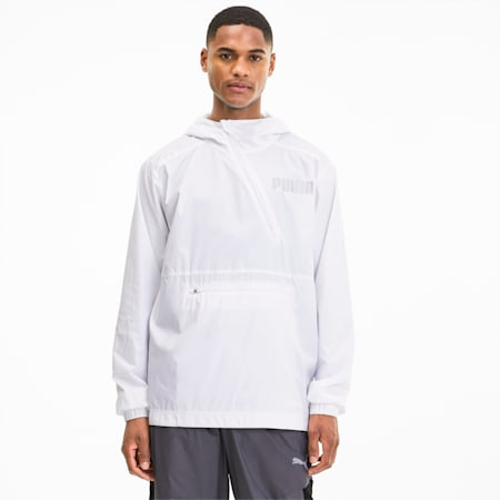 Collective Men's Half Zip Training Jacket, Puma White, small