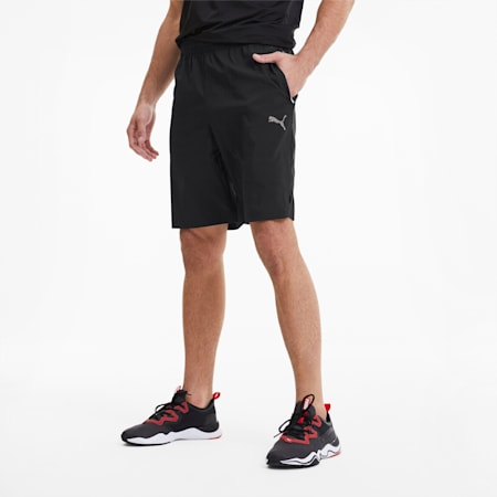 Shorts de punto Reactive de entrenamiento para hombre, Puma Black, pequeño