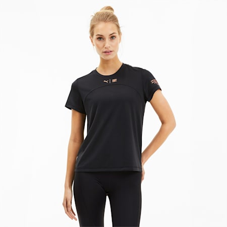 PUMA x FIRST MILE Women's Running Tee, Puma Black, small
