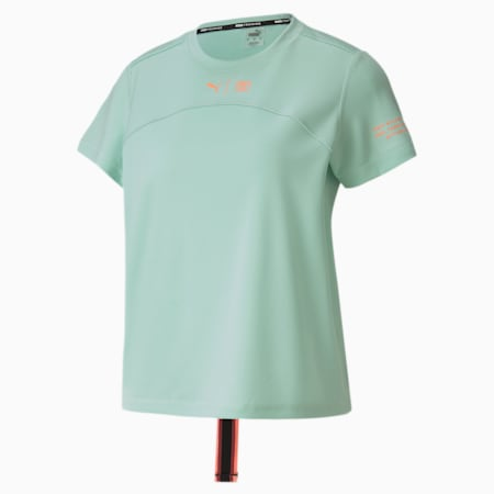PUMA x FIRST MILE hardloop-T-shirt voor dames, Mist Green, small