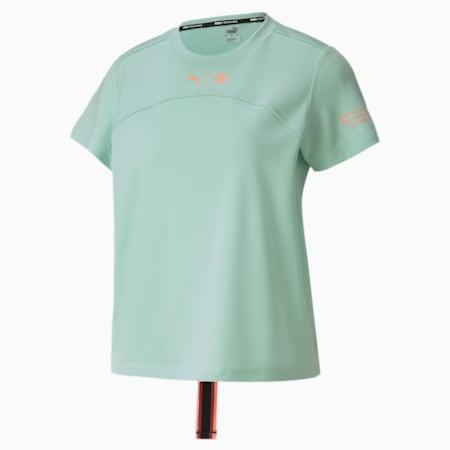 PUMA x FIRST MILE-løbe-T-shirt til kvinder, Mist Green, small