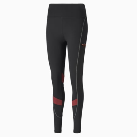 PUMA x FIRST MILE Eclipse Women's Training Tights, Puma Black-Burnt Russet, small