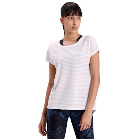 Be Bold Flatlock Stitching Women's Training T-Shirt, Puma White, small-IND