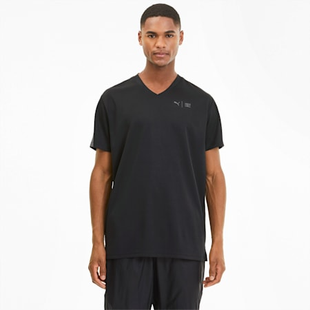 PUMA x FIRST MILE Short Sleeve Men's Training Tee, Puma Black, small