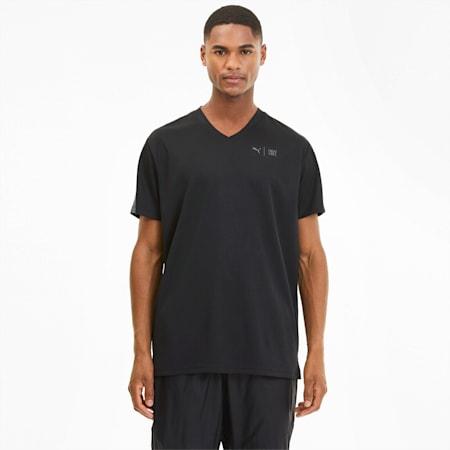 PUMA x FIRST MILE trainingsshirt met korte mouwen voor heren, Puma Black, small