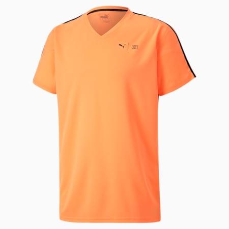 Męska koszulka treningowa zkrótkim rękawem PUMAxFIRST MILE, Fizzy Orange, small