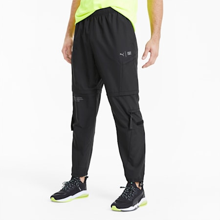 PUMA x FIRST MILE 2-in-1 Woven Men's Training Pants, Puma Black, small-SEA