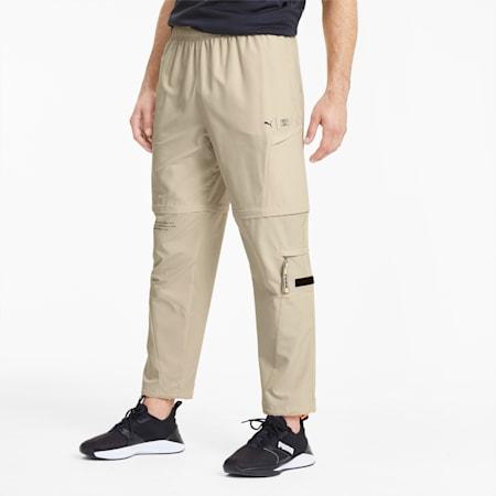 PUMA x FIRST MILE Men's 2-in-1 Training Pants, Tapioca, small