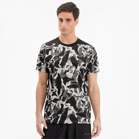 PUMA x FIRST MILE Camo Men's Training Tee, CASTLEROCK-camo print, small