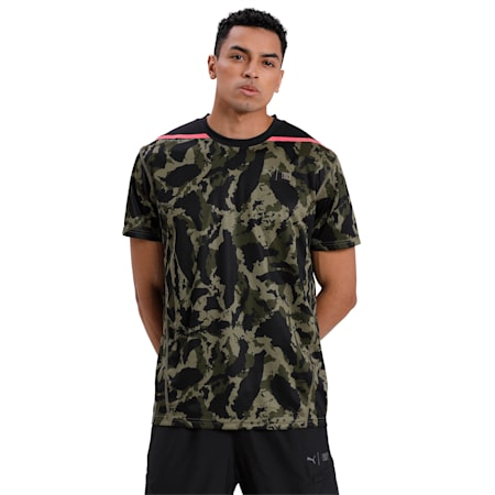 PUMA x FIRST MILE Camo Men's Training T-Shirt, Burnt Olive-camo print, small-IND