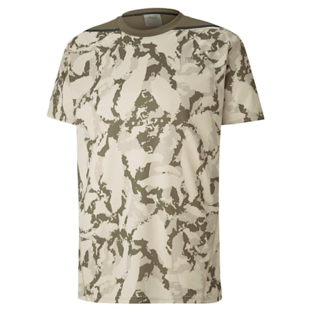PUMA x FIRST MILE Camo Men's Training T-Shirt, Tapioca-camo print, small-IND