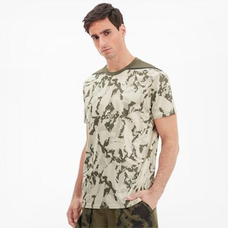 T-Shirt PUMA x FIRST MILE Camo Training pour homme, Tapioca-camo print, small