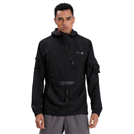 PUMA x FIRST MILE Utility Men's Running Jacket, Puma Black, small-IND