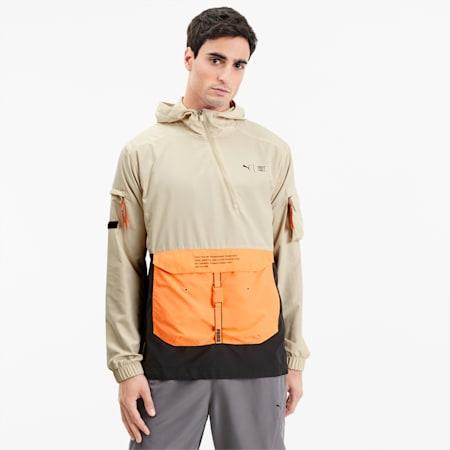 PUMA x FIRST MILE Men's Utility Jacket, Tapioca, small