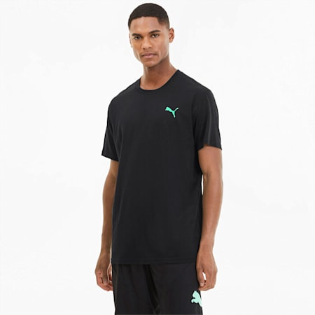 Slogan Men's Training Tee, Puma Black, small-SEA