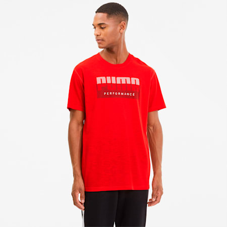 Slogan Men's Training Tee, High Risk Red, small-SEA